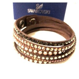 Swarovski Crystal and Leather Bracelet - NWT